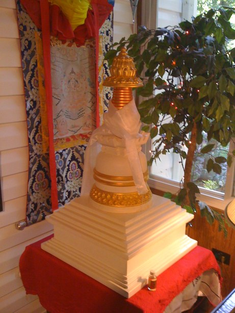 Large Stupa containing the Wealth Vase